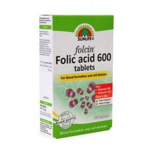 قرص فولیک اسید 600 فولاسین سان لایف