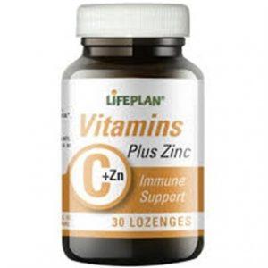 قرص ویتامین C + زینک لایف پلن