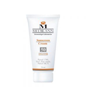 کرم ضد آفتاب رنگی مدیلن SPF50