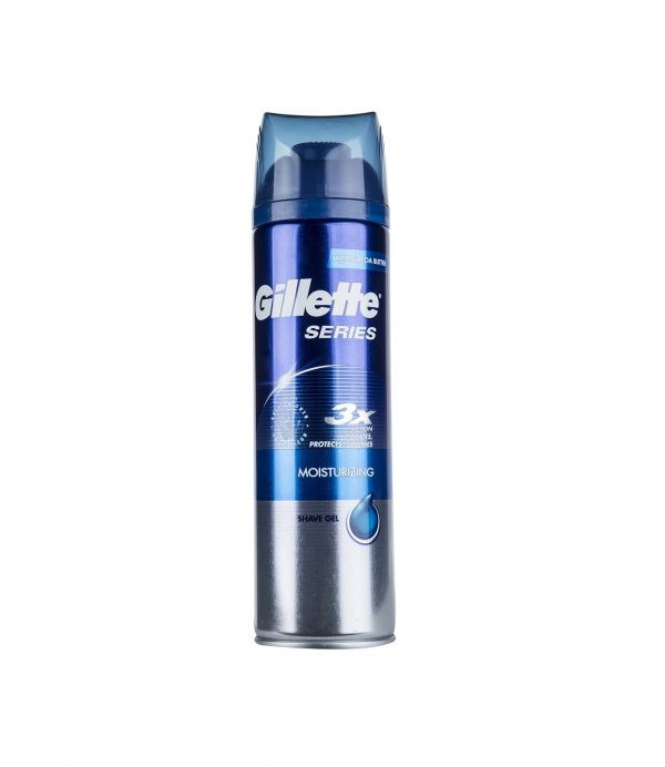 ژل اصلاح ژيلت سري 3X مدل Moisturizing حجم 200 ميلي ليتر | Gillette Series 3X Moisturizing Shaving Gel 200ml