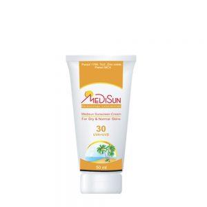 کرم ضد آفتاب مديسان SPF30 مناسب پوست خشک و معمولي