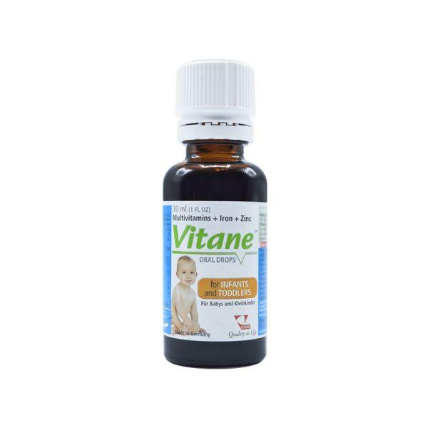 قطره مولتی ویتامین و آهن و زینک ویتان ۳۰ میلی لیتر | Vitane Multivitaminsand + Iron + Zinc Oral Drops 30 ml