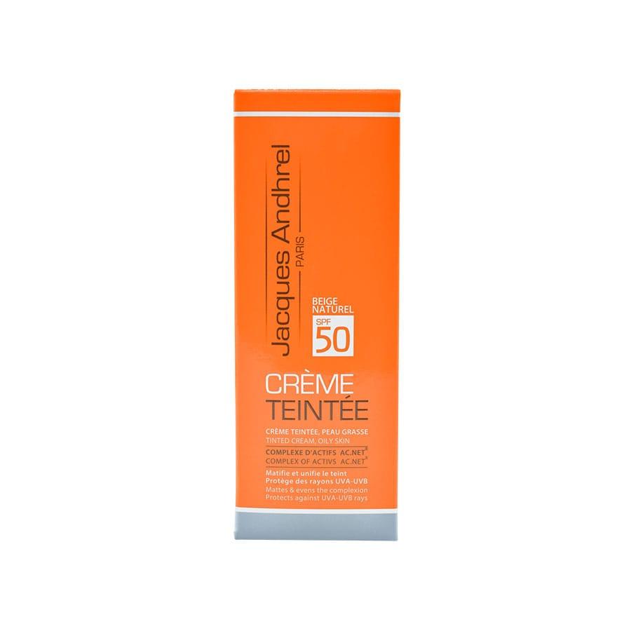 کرم ضد آفتاب رنگی SPF 50 ژاک آندرل پاریس مناسب پوست چرب 50 میلی لیتر