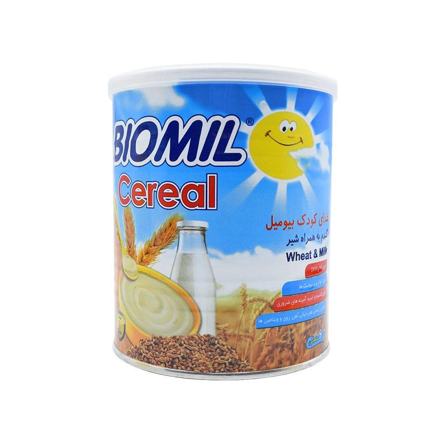 غذای کودک بیومیل سرآل گندم به همراه شیر 400 گرم