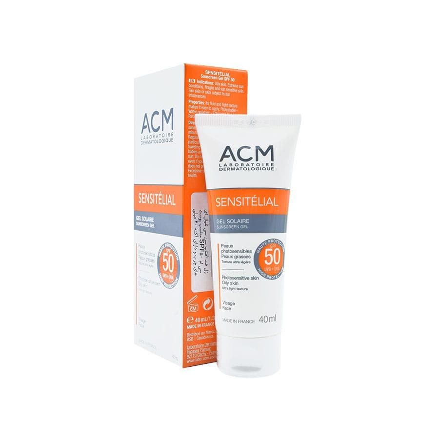 ژل ضد آفتاب سن سی تلیال ای سی ام SPF50 مناسب پوست های چرب و دارای آکنه 40 میلی لیتر