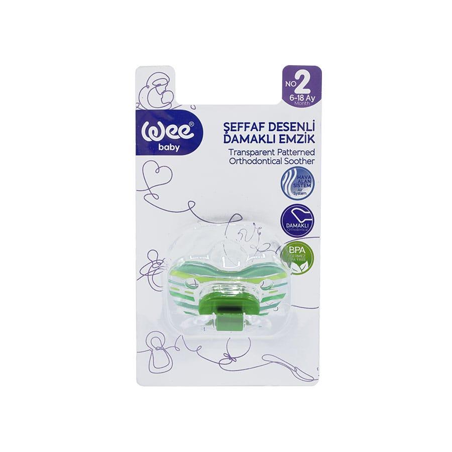 پستانک ارتودنسی شفاف شماره 2 وی بیبی مناسب نوزادان 6 تا 18 ماه کد 837