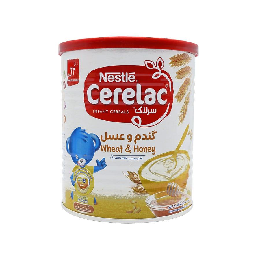 سرلاک گندم و عسل به همراه شیر نستله 400 گرم