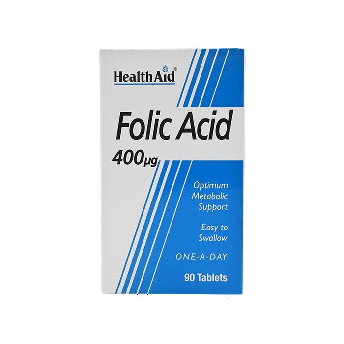 قرص فولیک اسید 400 میکروگرم هلث اید 90 عددی