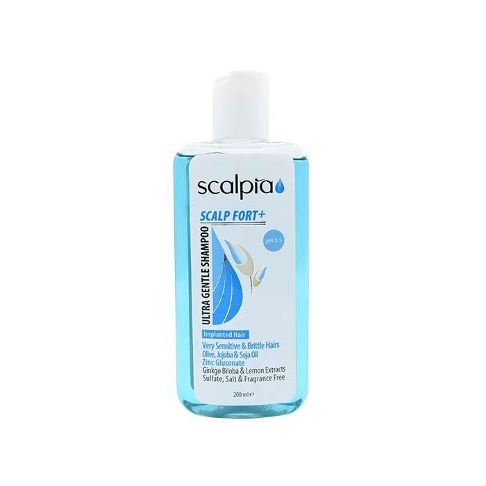 شامپو مناسب برای موهای تازه کاشته شده، بسیار حساس و شکننده اسکالپیا 200 میلی لیتر