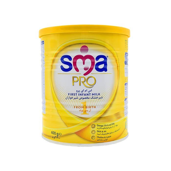 شیر خشک مخصوص شیرخواران از بدو تولد اس ام ای پرو 400 گرم