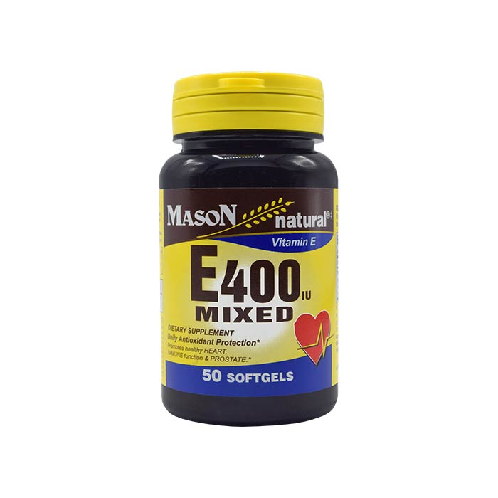 سافت ژل ویتامین ای میکس 400 واحدی میسون نچرال 50 عددی