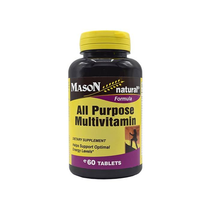 قرص مولتی ویتامین آل پورپوز میسون نچرال 60 عددی