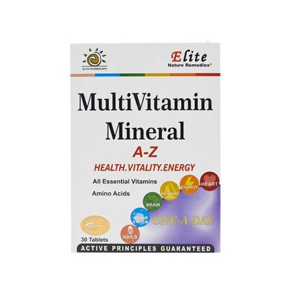 قرص مولتی ویتامین مینرال الیت 30 عددی