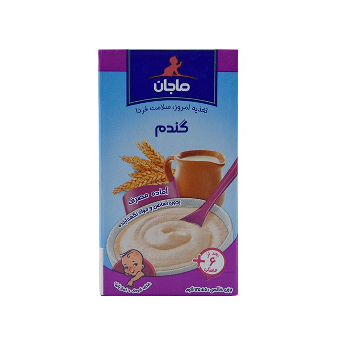 غذای کمکی کودک فرنی گندم ماجان 135 گرم