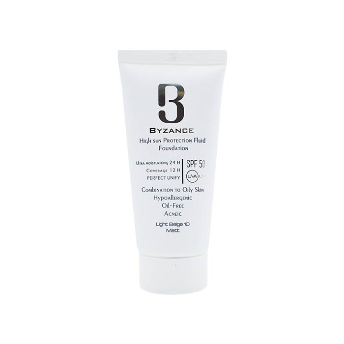 فلوئید ضد آفتاب +SPF50 بیزانس مناسب پوست های چرب 30 میلی لیتر