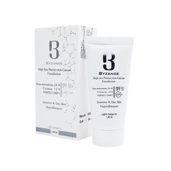 ضد آفتاب +SPF50 بیزانس مناسب پوست های خشک و حساس 30 میلی لیتر