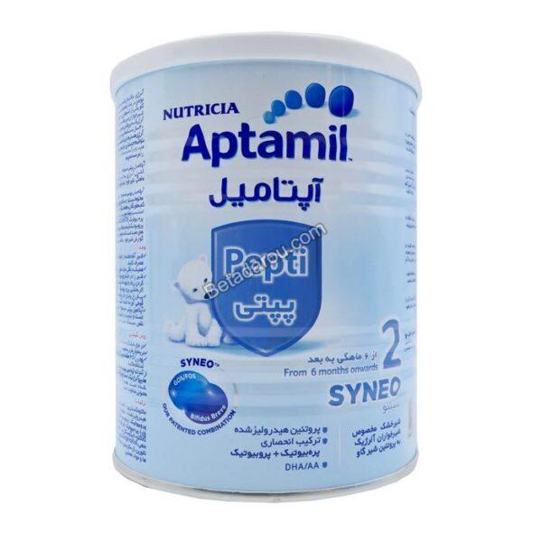 شیر خشک آپتامیل پپتی سینئو 2 نوتریشیا 400 گرم
