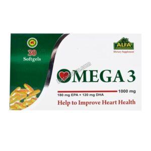 سافت ژل امگا 3 آلفا ویتامینز 30 عددی
