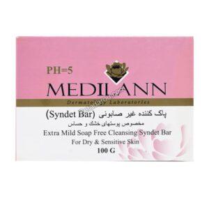 پاک کننده غیر صابونی مدیلن برای پوست خشک و حساس ۱۰۰ گرم