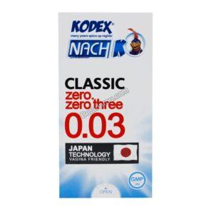 کاندوم نازک کللاسیک 003 کدکس 12 عددی
