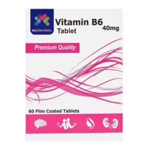 قرص ویتامین ب6 مولتی نرمال 60 عددی