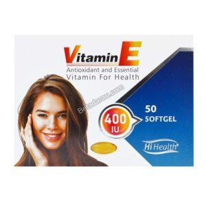 سافت ژل ویتامین ای 400 های هلث 50 عددی