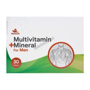 قرص مولتی ویتامین و مینرال آقایان ویتامین لایف 30 عددی